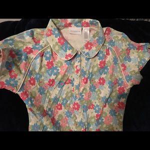 Liz Claiborne Floral Blouse - Size L